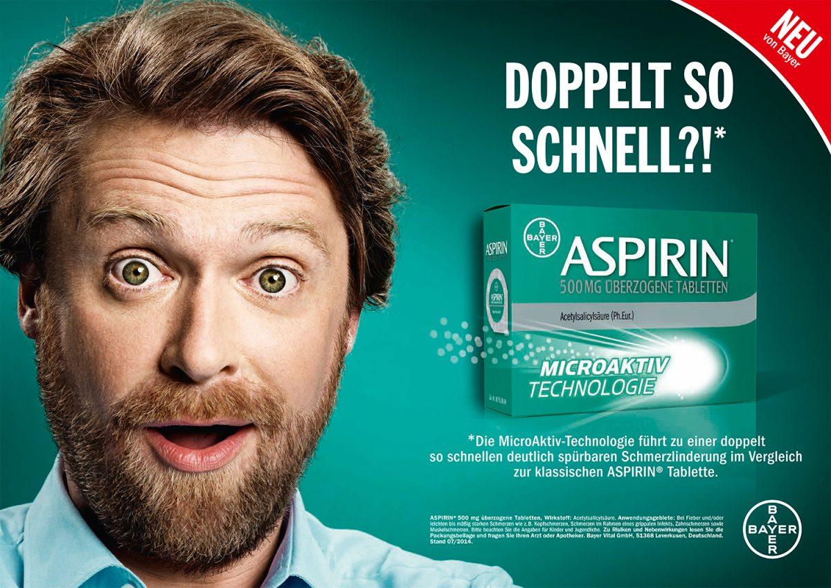 aspirin | c: bbdo proximity | ph: murat aslan • Retouching • pretty on point • post production • düsseldorf
